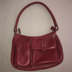Deep Red Leather Minicci Handbag